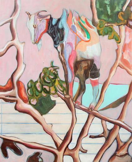 walk the line - 2019 - öl auf leinwand - 100 x 80 cm