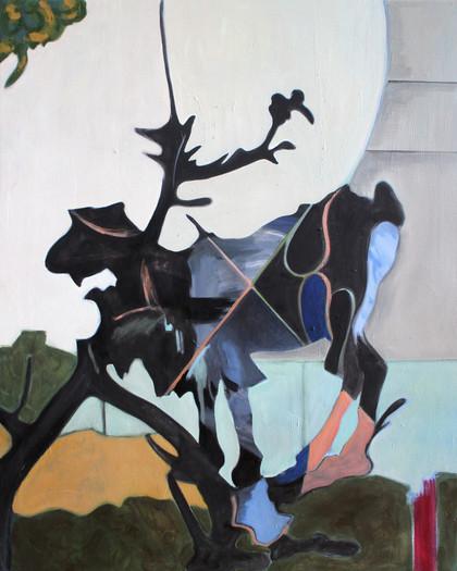 goat - 2018 - öl auf leinwand - 100 x 80 cm