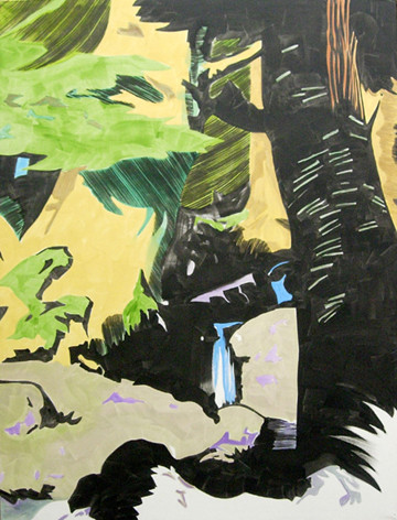 wald - 2005 - oil on canvas - 190 x 145