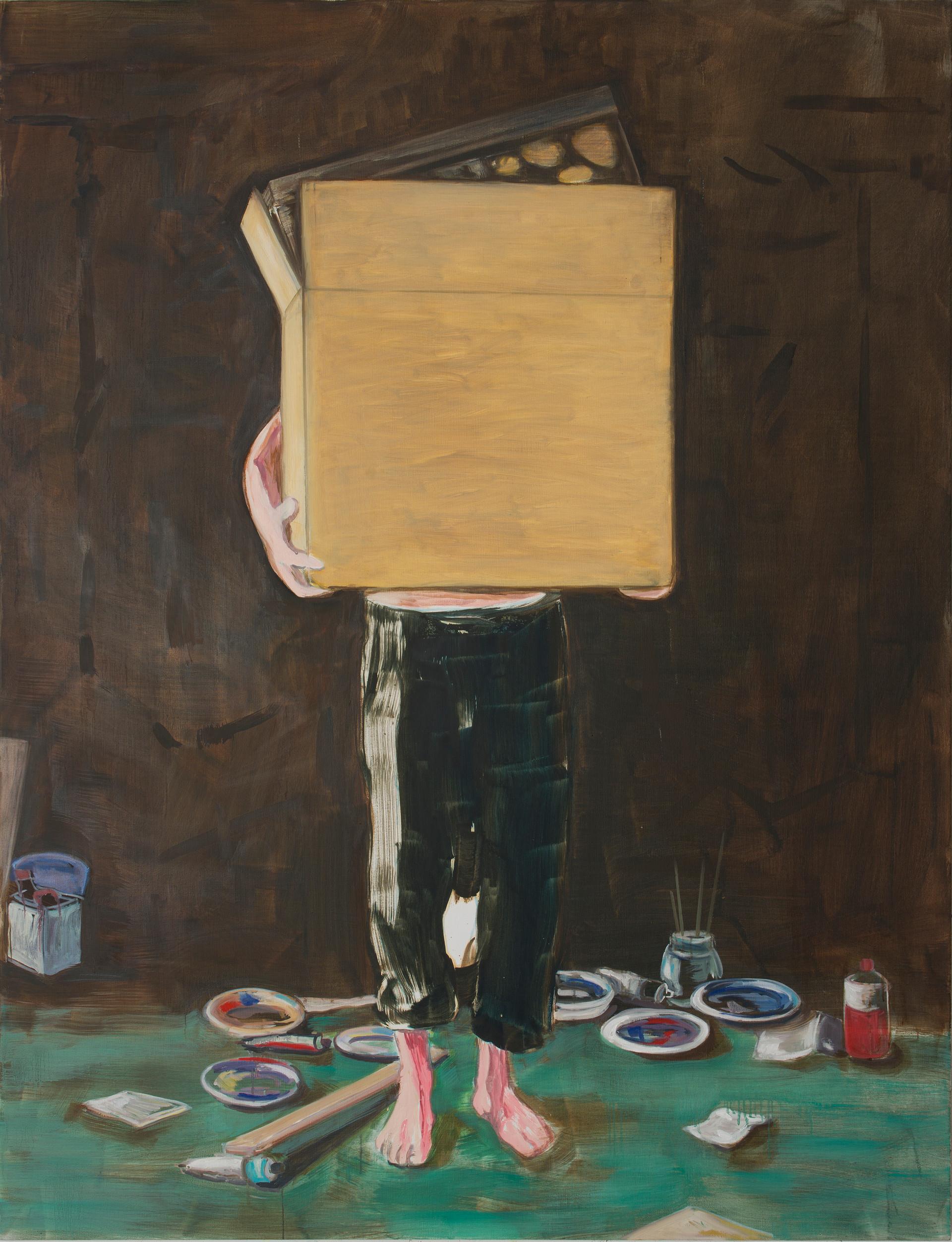 the assistant - 2013 - öl auf leinwand - 190 x 145 cm