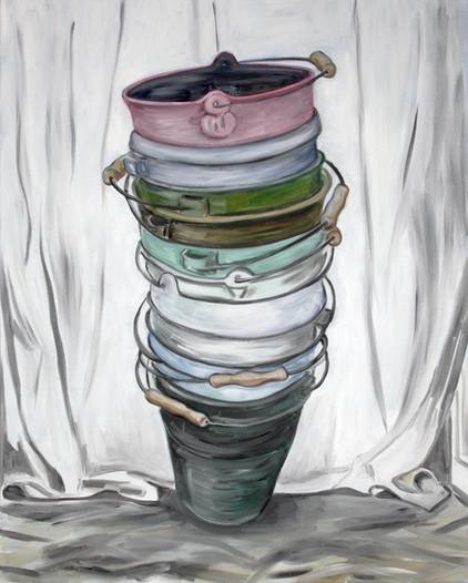 pisa 4 - 2013 - öl auf leinwand - 100 x 80 cm