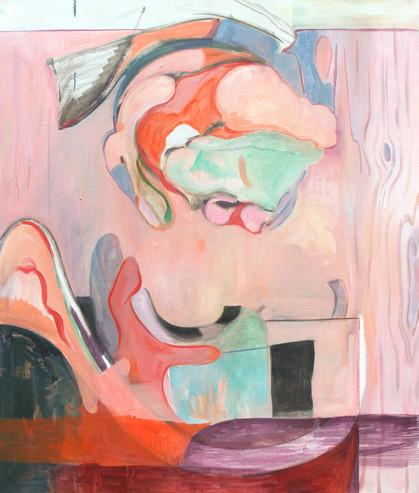 pink opera - 2019 - öl auf leinwand - 95 x 80 cm