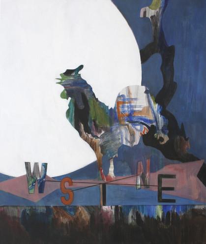 moon - 2019 - öl auf leinwand - 95 x 80 cm