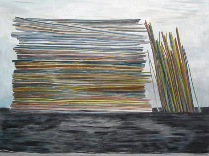stapel - 2008 - öl auf leinwand - 120 x 160 cm