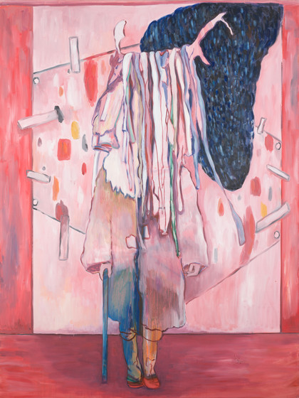 studie in pink - 2016 - öl auf leinwand - 160 x 120 cm
