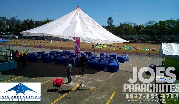 Tella, parachute, tent, joes, corp, corporation, events, tents, tent, manila