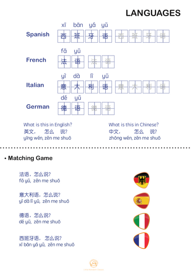 LANGUAGE: Match the Language to the Flag