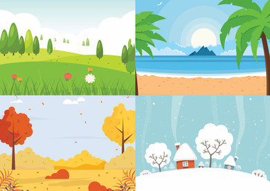 SEASONS: Cut out and stick it onto the correct Seasons