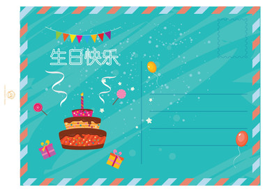 HAPPY BIRTHDAY: Print out your own Happy Birthday Postcard