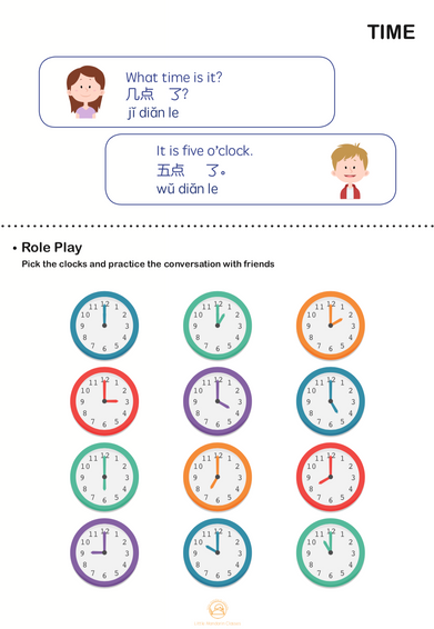 TIME: Roleplay and tell the time!