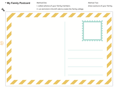 FAMILY: Create a family postcard