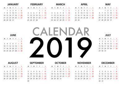 PRINTABLES: 2019 Calendar