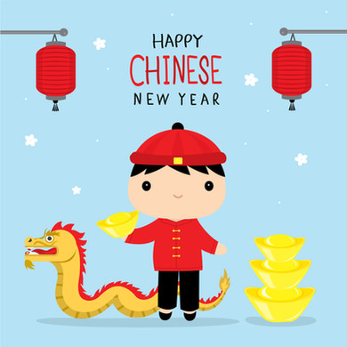 CHINESE NEW YEAR - Printable poster of boy