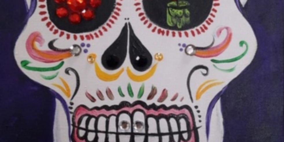 Bedazzled Sugar Skulls Paint Night!