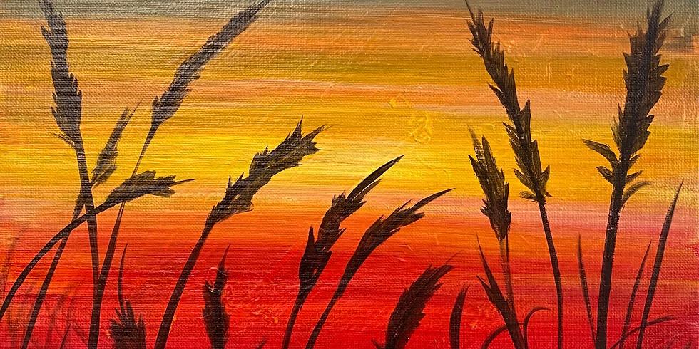 Fiery Sunset Paint Night!