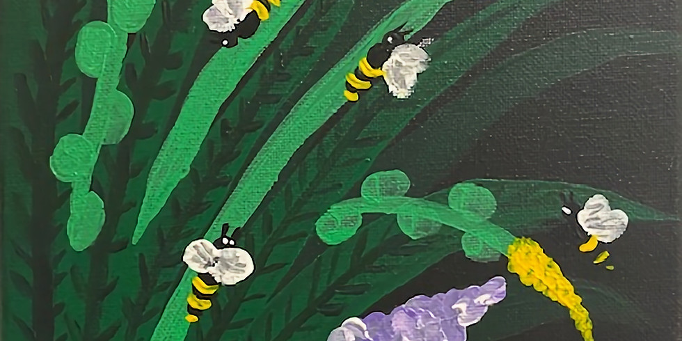 """""""Bumble Bee Meadow"""" Paint Day!"""