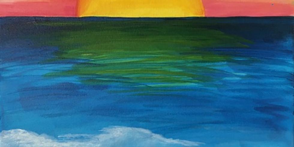 Beach Scene Paint Night