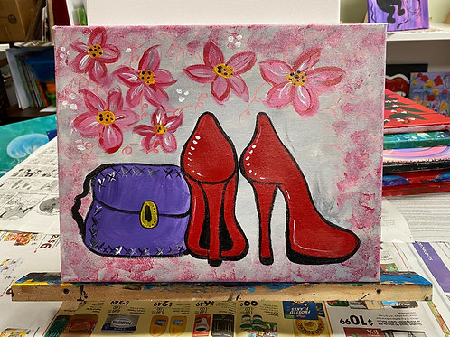 """""""Dolled Up"""" Painting"""