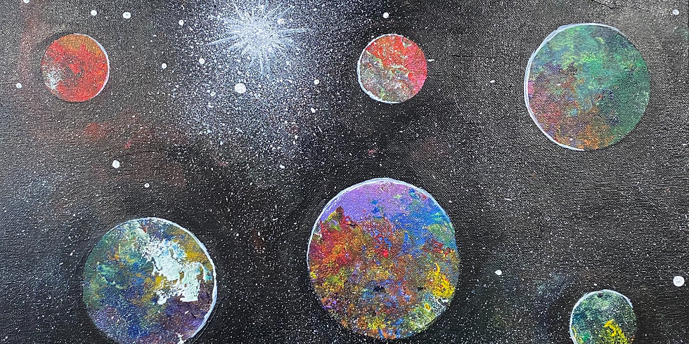 """Deep Space"" Paint Night!"