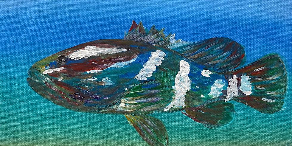 Serene Sunday Grouper Painting!