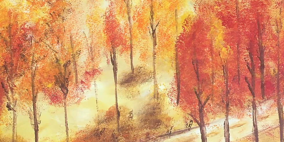 Fall Tree Path Paint Night!