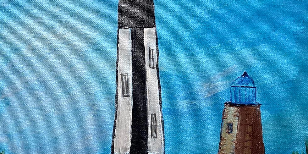Serene Sunday Lighthouse Painting!