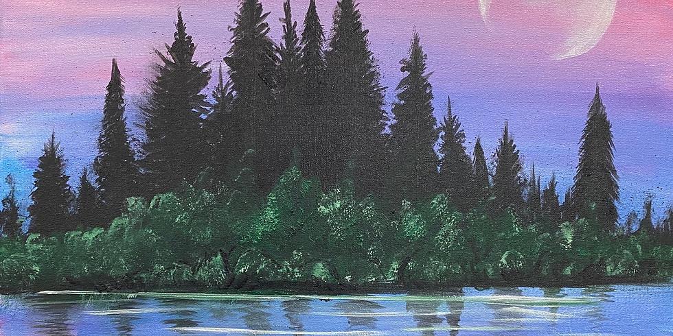 'Mountain Magic' Paint Night!
