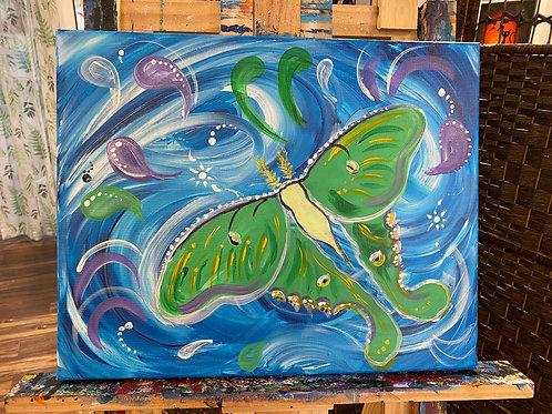 Atlas Moth Painting