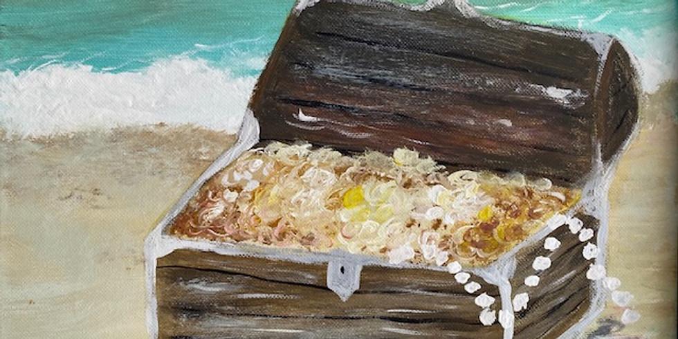 """""""Buried Treasure"""" Serene Sunday Painting!"""