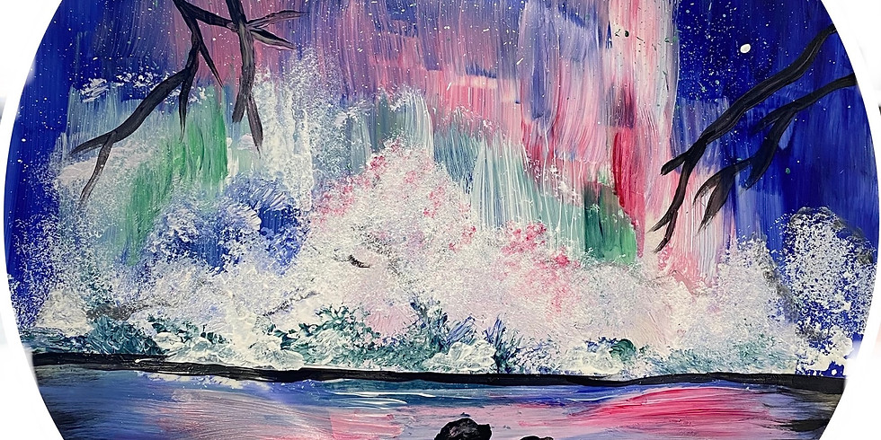 Aurora Borealis Plate Paint Night!