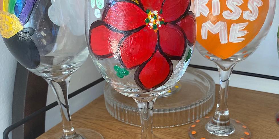 DIY Wineglass Painting!