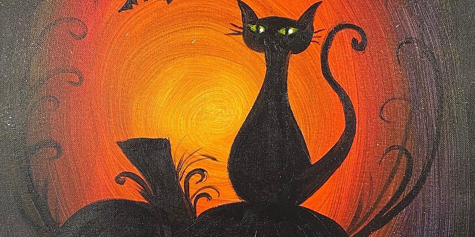 Halloween Town Paint & Movie Night!