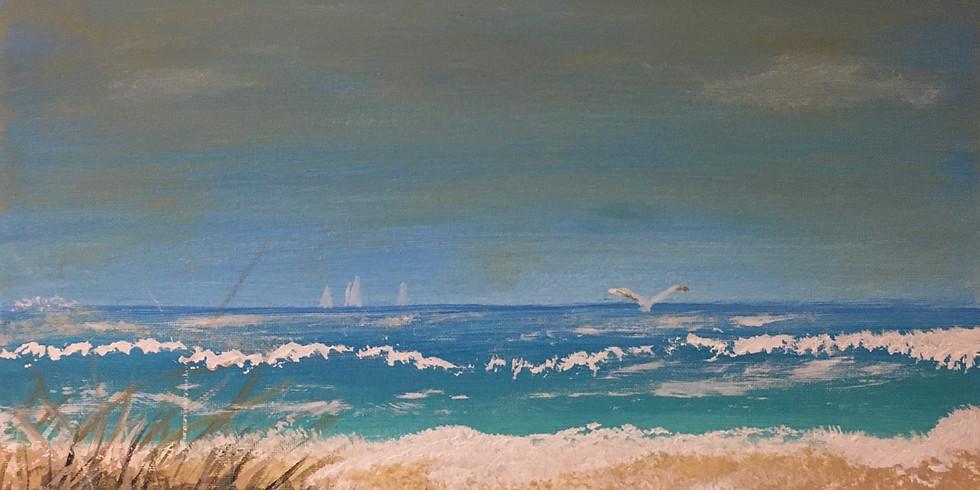 Serene Senior Sunday Beach Painting!