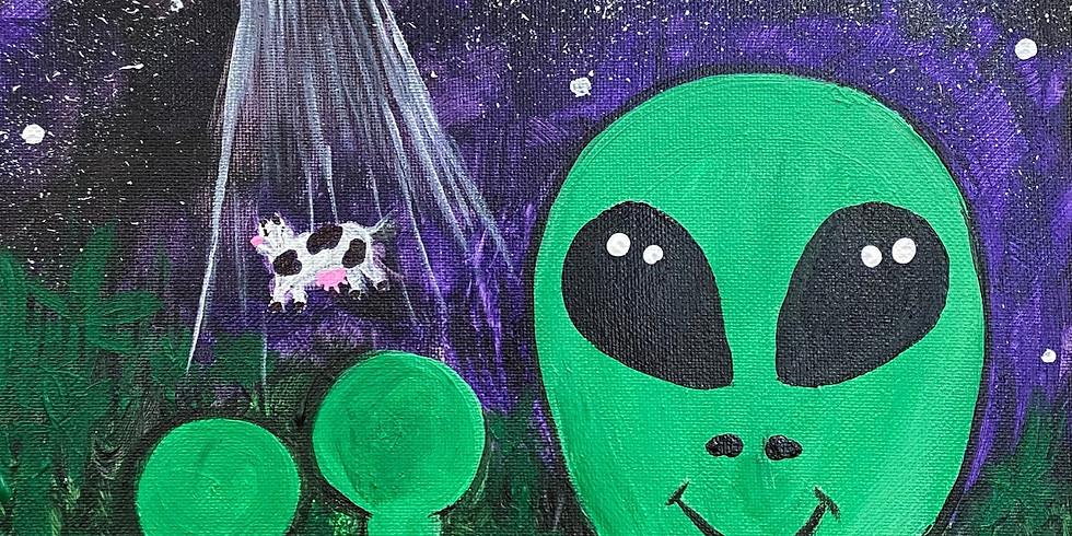 """Alien Landing"" Paint Night!"
