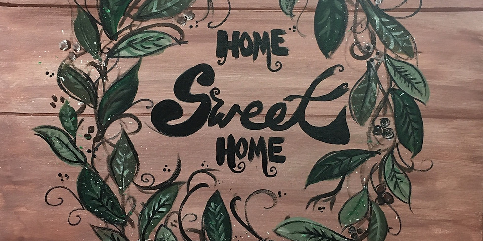 Home Sweet Home Painted Wreath