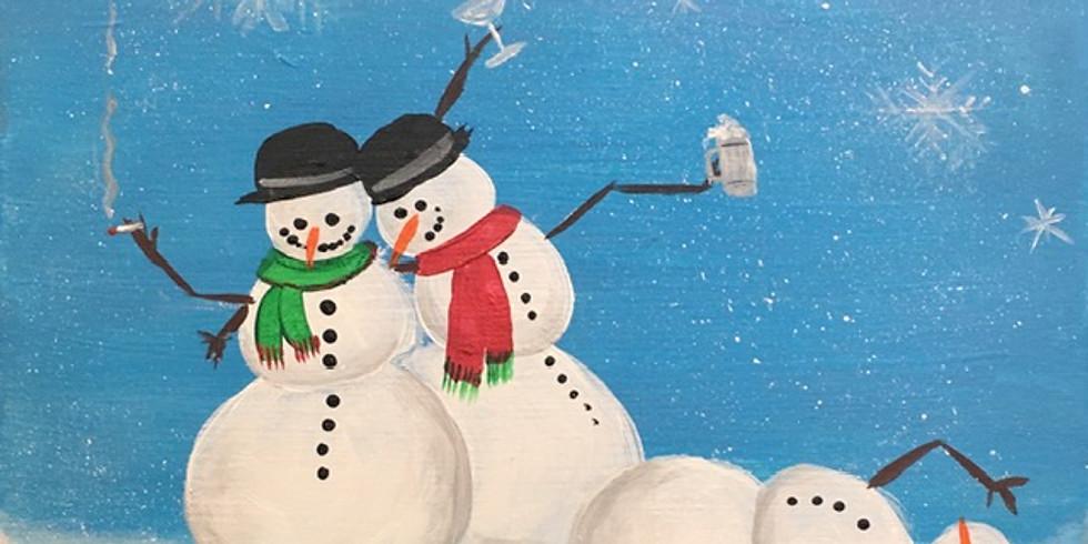 Drunken Snowmen Paint Night!
