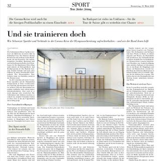 Neue Zürcher Zeitung März 2020
