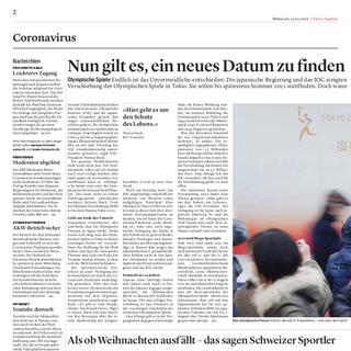 Bieler Tagblatt März 2020