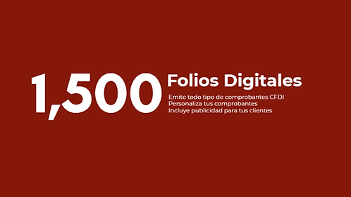 Paquete 1,500 Folios