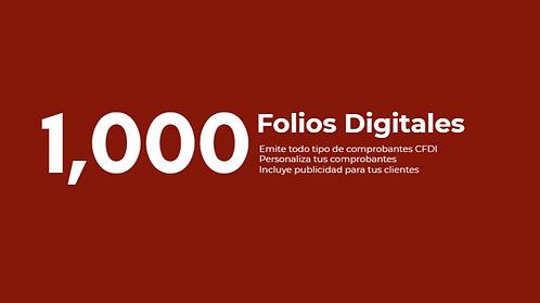 Paquete 1,000 Folios