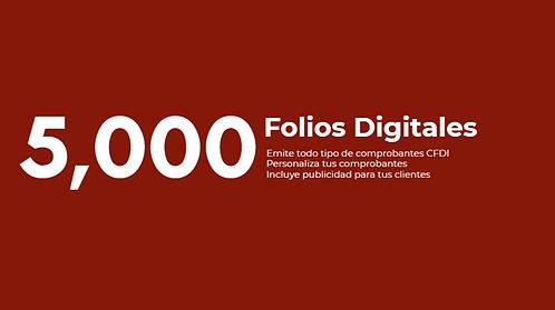 Paquete 5,000 Folios