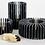 Thumbnail: Black Marquina Marble Orion Candle Holder - Medium