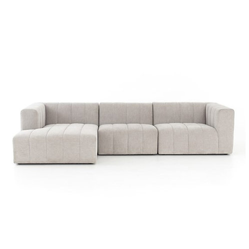 Langham Channelled 3 Piece Sectional Sofa