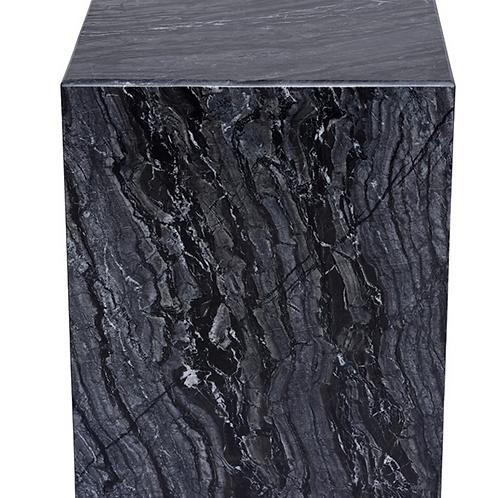 Matisse Side Table - Black Wood Vein
