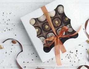 Coconut Coated Chocolate Box