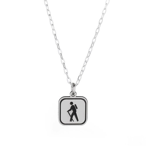 Hiking Sign Necklace