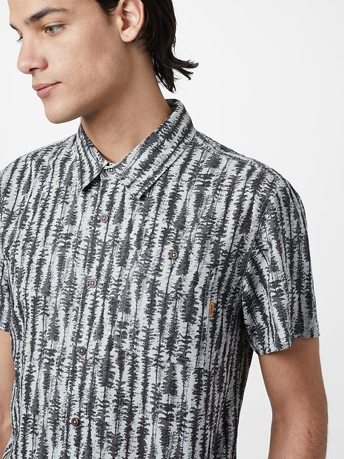 Tree Stripes Button Up - Grey