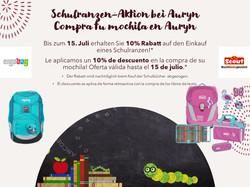 Schulranzen-Aktion bei Auryn