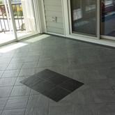 Interior View Pella Sliding Door, Florida Tile