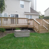 Deck Build before stain